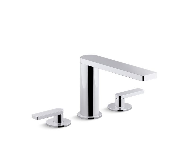 Kohler K-73060-4-CP Composed Widespread Bathroom Sink Faucet with Lever Handles in Polished Chrome
