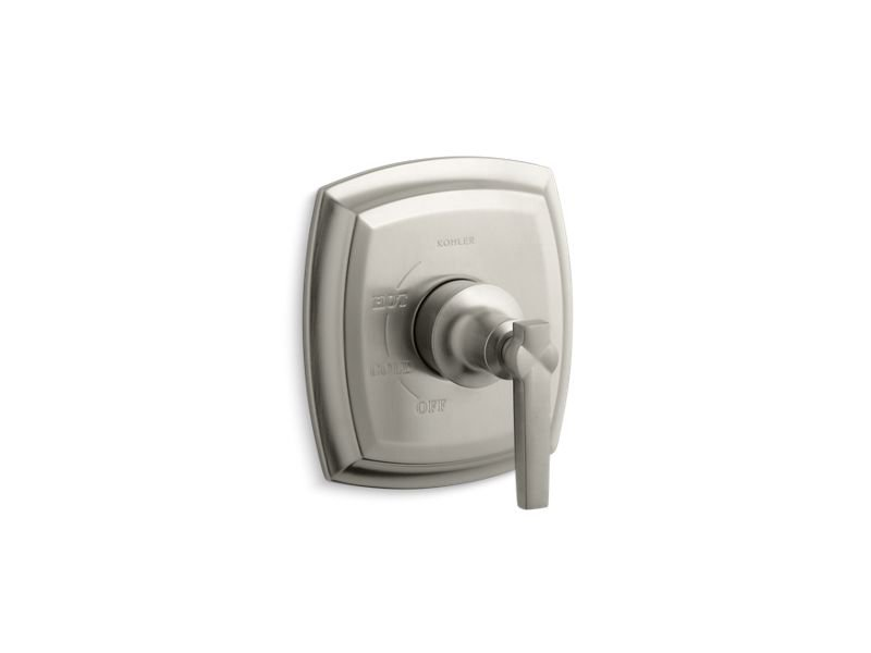 Kohler K-TS16235-4-BN Margaux Rite Temp Valve Trim with Lever Handle in Vibrant Brushed Nickel