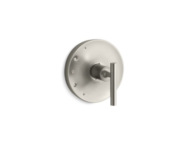 Kohler K-TS14423-4-BN Purist Rite Temp Valve Trim with Lever Handle in Vibrant Brushed Nickel
