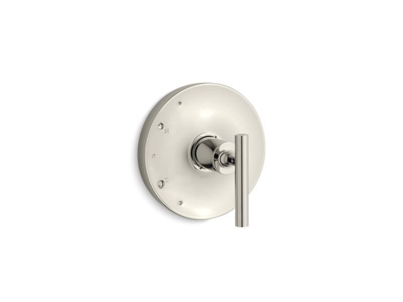 Kohler K-TS14423-4-SN Purist Rite Temp Valve Trim with Lever Handle in Vibrant Polished Nickel