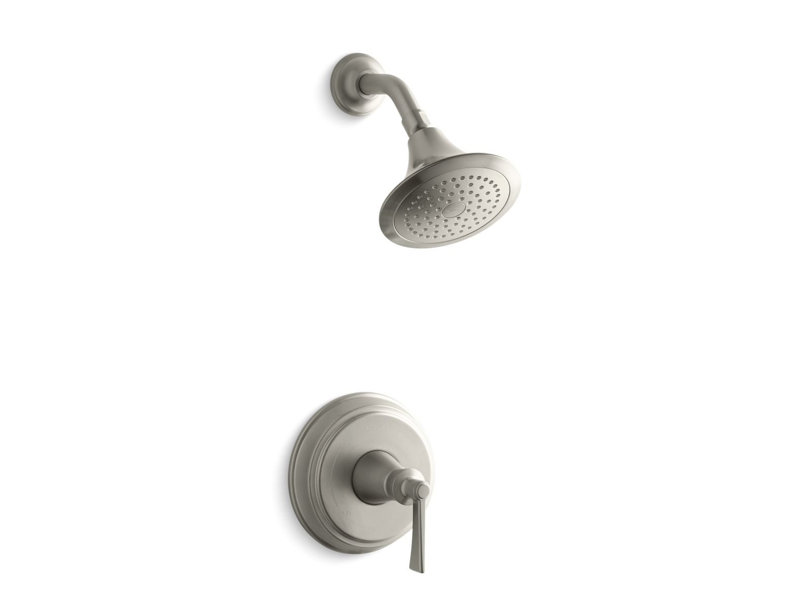 Kohler K-TS11078-4-BN Archer Rite-temp Shower Valve Trim with Lever Handle and 2.5 Gpm Showerhead in Vibrant Brushed Nickel