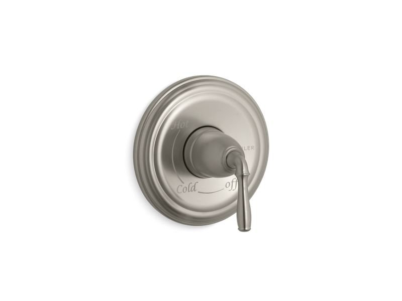 Kohler K-TS397-4-BN Devonshire Rite Temp Valve Trim with Lever Handle in Vibrant Brushed Nickel