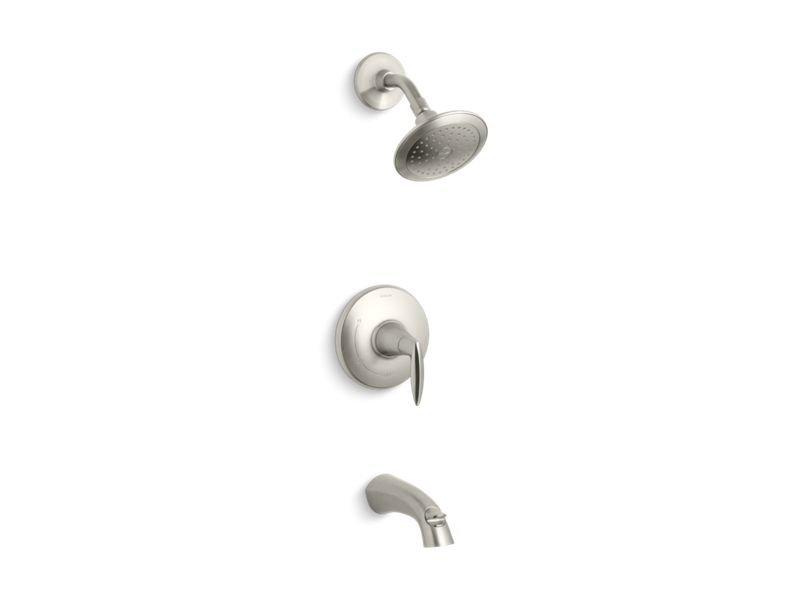 Kohler K-TS45104-4-BN Alteo Rite-temp Bath and Shower Trim Set, Valve Not Included in Vibrant Brushed Nickel