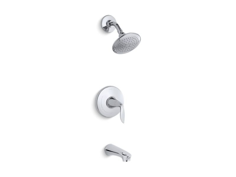 Kohler K-TS5318-4-CP Refinia Rite-temp Bath and Shower Trim Set, Valve Not Included in Polished Chrome
