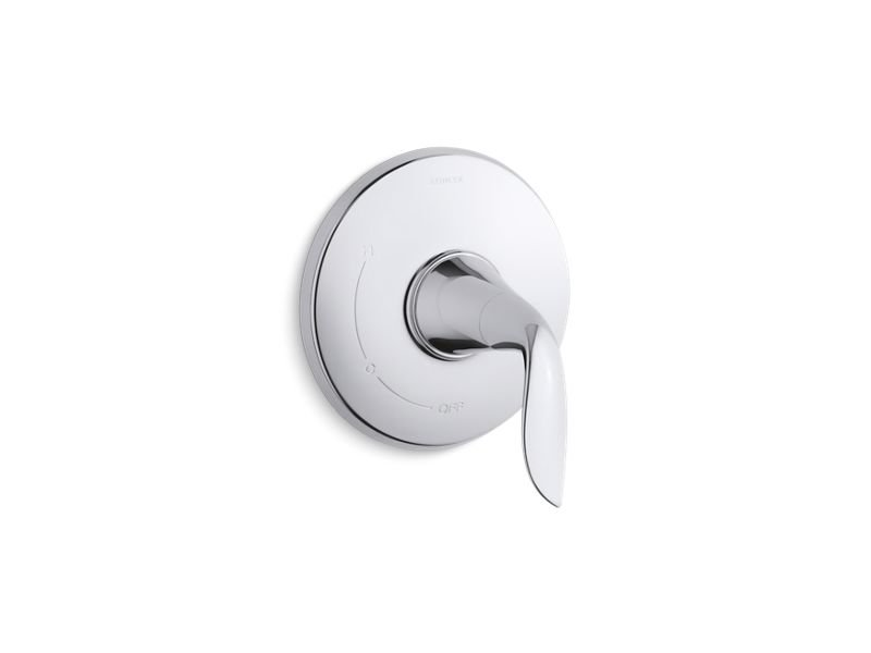 Kohler K-TS5322-4-CP Refinia Rite Temp Valve Trim with Lever Handle in Polished Chrome