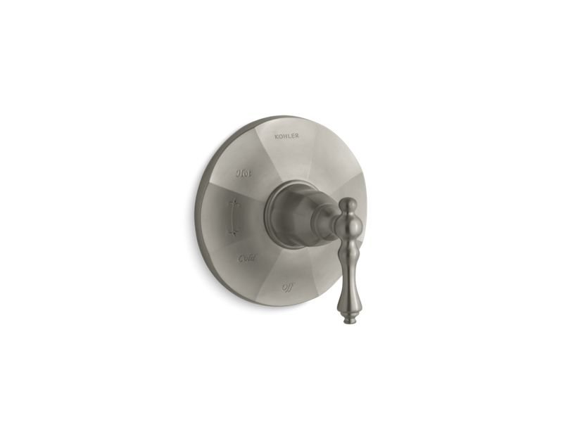 Kohler K-TS98762-4-BN Kelston Rite Temp Valve Trim with Lever Handle in Vibrant Brushed Nickel