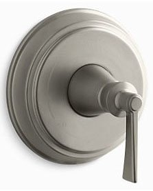 Kohler K-TS98763-4-BN Archer Rite Temp Valve Trim with Lever Handle in Vibrant Brushed Nickel