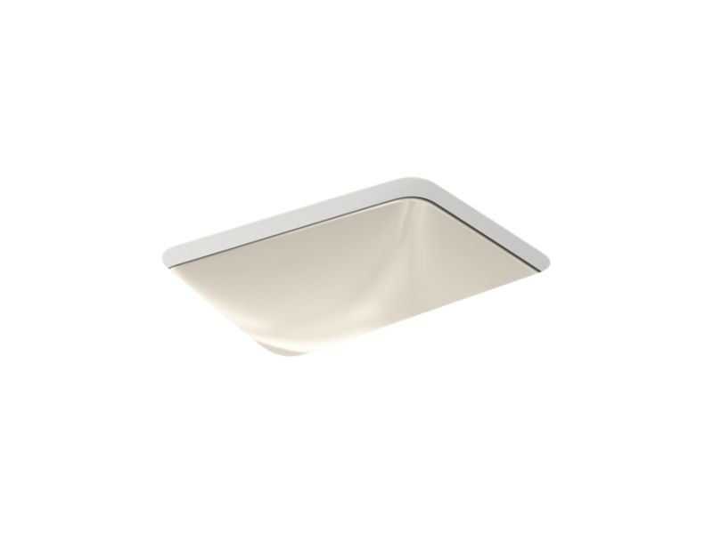 Kohler K-20000-G9 Caxton Rectangle Under-Mount Bathroom Sink with Overflow and Clamp Assembly in Sandbar