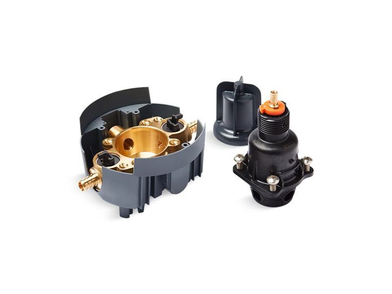 Kohler K-8304-PS-NA Rite-Temp Pressure-Balancing Valve Body and Cartridge Kit with Service Stops and PEX Crimp Connections