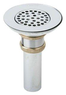 "Elkay Lk18 1-1/2"" X 4"" Polished Nickel Plated Grid Sink Drain Fitting"