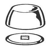 Kissler 1348002 White Plastic Molded Prong Toilet Bolt Cap