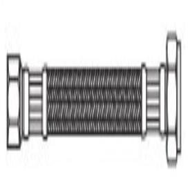 "Kissler 88-2002 3/8"" X 1/2"", Compressionxnpt, 20"" L, High Grade 304 Stainless Steel, Faucet Connector W/Reinforced Pvc Inner Liner"