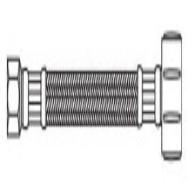 """Kissler 88-2009 3/8"""" X 7/8"""", Compressionxballcock, 20"""" L, 250Psi, Pvc Tubing, Toilet Water Supply Connector"""