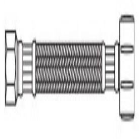 """Kissler 88-2020 1/2"""" X 7/8"""", Compressionxballcock, 12"""" L, 250Psi, Pvc Tubing, Toilet Water Supply Connector"""