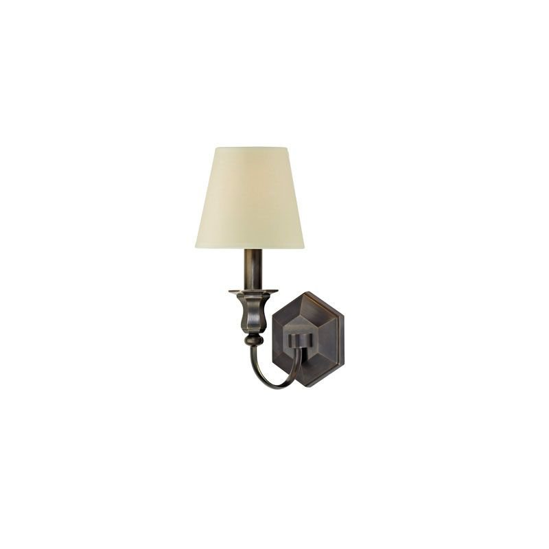 Hudson Valley Lighting 1411 Charlotte 1 Light Wall Sconce Candle Style Bedroom Dining Room Living Room in Old Bronze