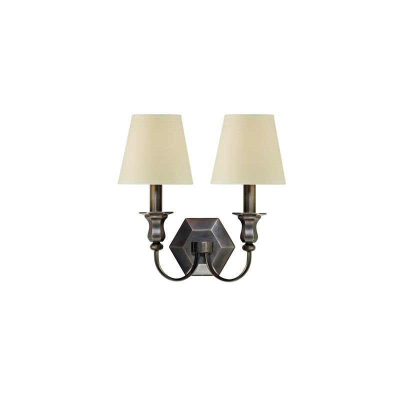 Hudson Valley Lighting 1412 Charlotte 2 Light Wall Sconce Candle Style Bedroom Dining Room Living Room in Old Bronze
