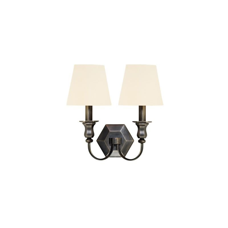 Hudson Valley Lighting 1412-WS Charlotte 2 Light Wall Sconce Candle Traditional Style Bedroom in Old Bronze