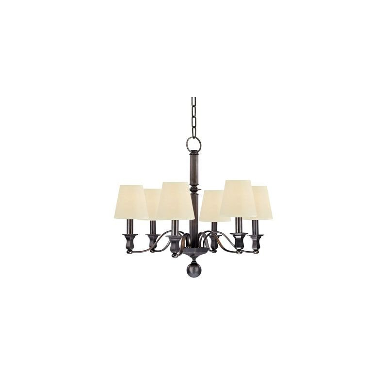 Hudson Valley Lighting 1416 Charlotte 6 Light Chandelier Traditional Dining Room in Old Bronze