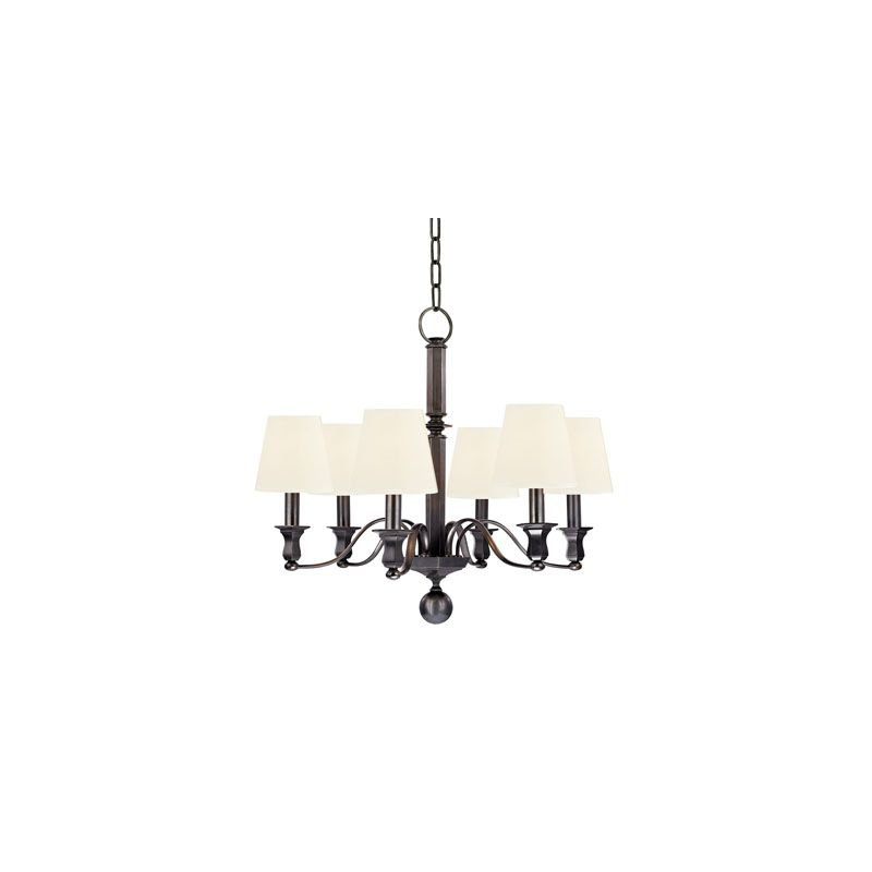 Hudson Valley Lighting 1416-WS Charlotte 6 Light Chandelier Polished Traditional Dining Room in Old Bronze