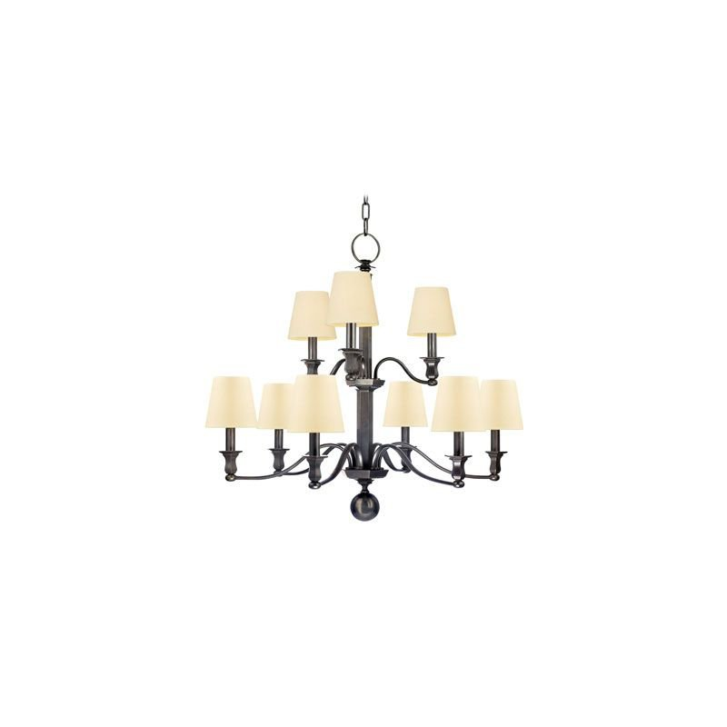 Hudson Valley Lighting 1419 Charlotte 9 Light Chandelier Traditional Dining Room in Old Bronze