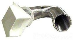 """Walrich 811104 4"""" X 8' Flexible Dryer Vent Kit W/Hose"""