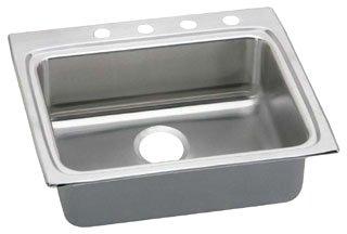 "Elkay LRAD2522553 18 Gauge Stainless Steel 25"" x 22"" x 5.5"" Single Bowl Top Mount Kitchen Sink - 3 Hole in Lustrous Satin"