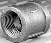 """ZMBCP05 1"""" X Fptxfpt 150Psi Lead-Free Black Malleable Iron Coupling"""