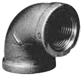 "ZMBL9006 1-1/4"" X Fptxfpt 150Psi Black Malleable Iron 90D Elbow"