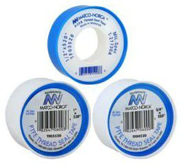 "Matco Norca TF03520 1/2"" X 520"" White Non-Stick Thread Sealing Tape"