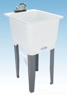 """Mustee Utilatub 12K 18"""" X 23-1/2"""" Thermoplastic Single Bowl Laundry Tub"""
