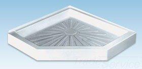 "Mustee Durabase 3838CM 38"" X 5-1/2"" White Fiberglass 1-Piece Neo-Angle Shower Floor"