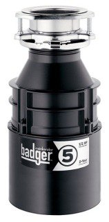 Insinkerator BADGER-5 120Vac 1/2Hp 1725Rpm Galvanized Steel Heavy-Duty Continuous Feed Food Waste Disposer