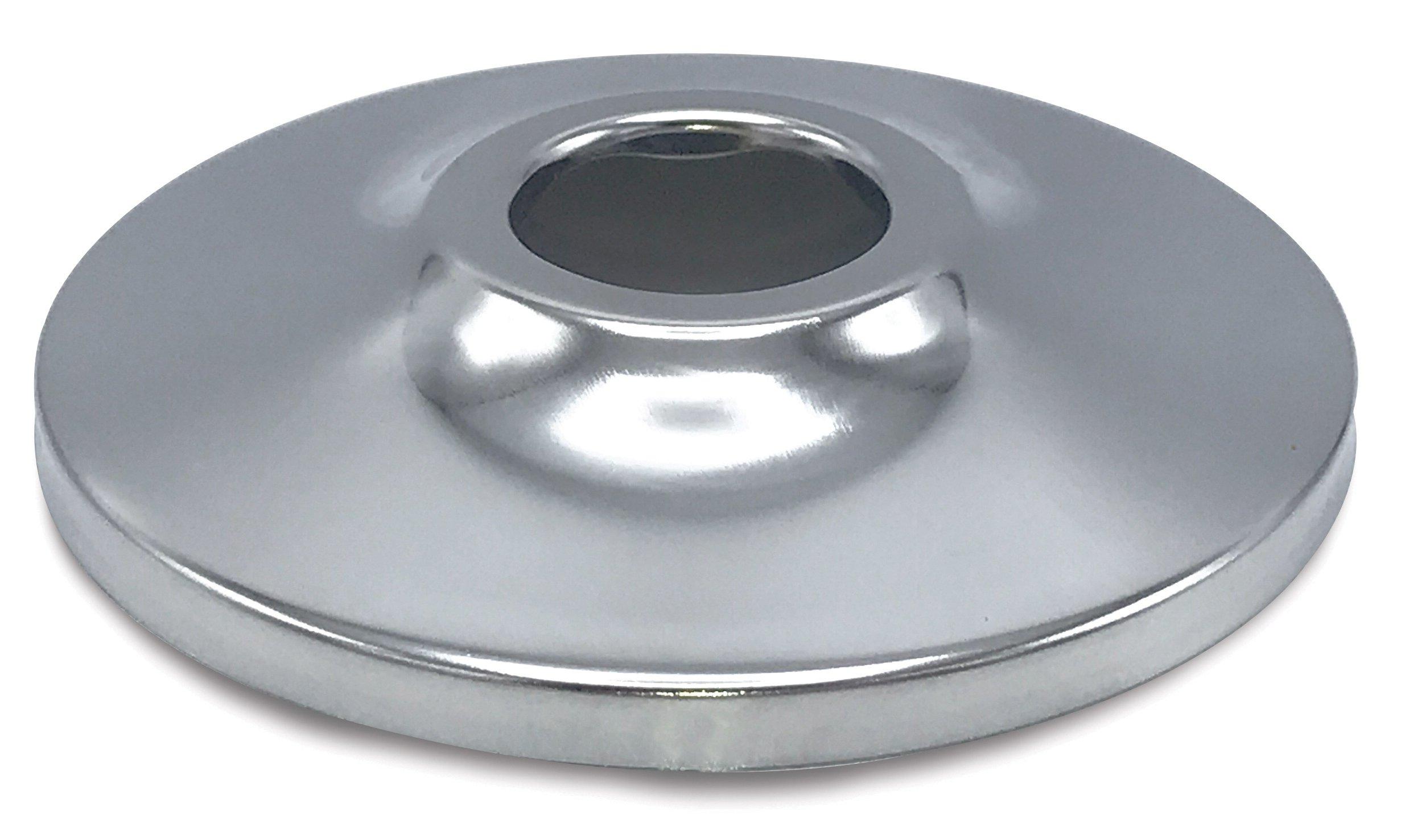 """Walrich 1610006 3/4"""" Ips Chrome Steel Flat Low Sink Faucet Escutcheon"""