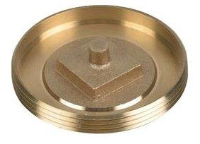 """Oatey 42744 3-1/2"""", Brass, Cleanout Plug"""