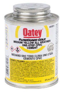 Oatey Flowguard 31911 8Oz Can Yellow/Gold Medium Solvent Cement