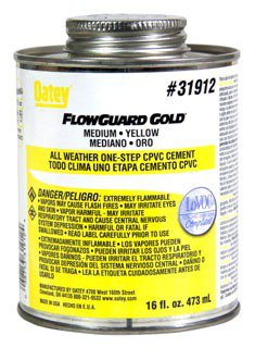 Oatey Flowguard 31912 16Oz Can Yellow/Gold Medium Solvent Cement