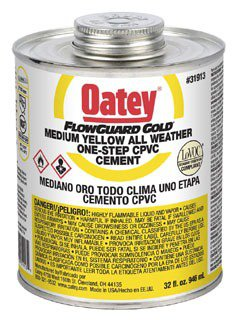 Oatey Flowguard 31913 32Oz Can Yellow/Gold Medium Solvent Cement