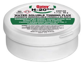 Oatey H-20 30140 1.7Oz Greenish Gray Water Soluble Paste Tinning Flux