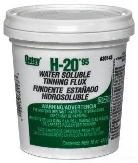 Oatey H-20 30143 16Oz Greenish Gray Water Soluble Paste Tinning Flux