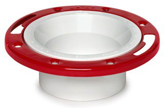 "Oatey 43513 3"" Or 4"" Pvc Toilet Level-Fit Closet Flange W/Metal Ring"