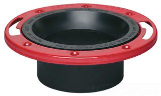 "Oatey 43514 3"" Or 4"" Abs Plastic Toilet Level-Fit Closet Flange W/Test Cap"