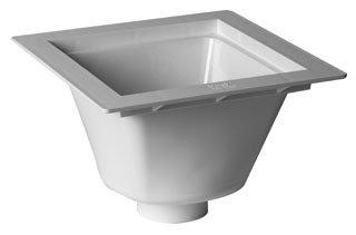 """Oatey 42720 12"""" X 6-1/2"""" Pvc Square In Floor Sink"""