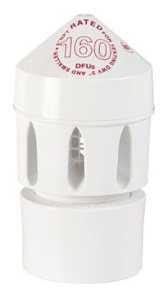"Oatey Sure-Vent 39220 2"" Npt Pvc Two-Way Air Admittance Valve"