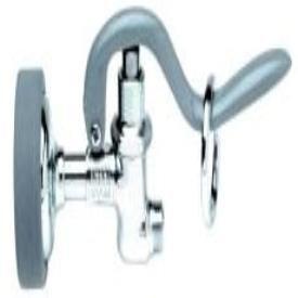 "T&S Brass B-0107 7-7/8"" X 2-3/4"" 1.42Gpm Brass Self Closing Kitchen Faucet Spray Valve"