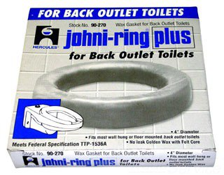 """Hercules Johni-Rings 90270 4"""" Back Outlet Toilet Wax Gasket"""