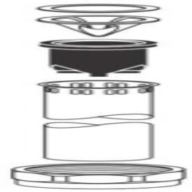 """Sloan Model 5323006 1-1/4"""" X 9"""" Chrome Flushometer Vacuum Breaker"""