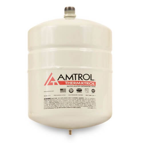 """Amtrol Therm-X-Trol 140N43 8"""" X 13"""" 2Gallon 150Psi Urethane Top Coated Steel In-Line Water Heater Expansion Tank"""