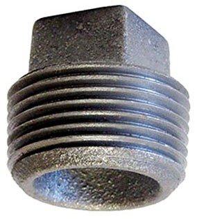 "Fig 318902400 3/4"" Mpt Black Cast Iron Square Head Cored Plug"