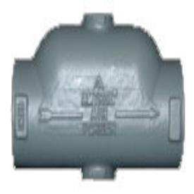 """Amtrol 446 2"""" 125Psig Cast Iron In-Line Air Purger"""