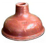 """Kissler 1826006 6"""" Red Rubber Force Cup Drain Plunger"""